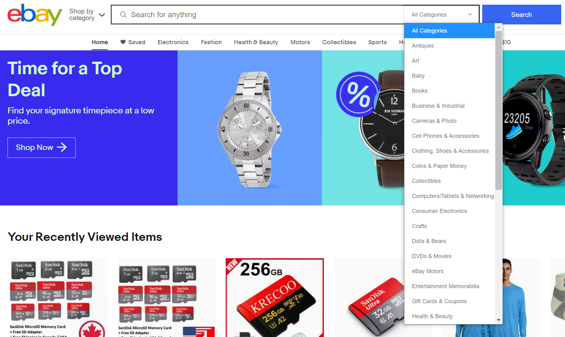 Filters and attributes on ecommerce site, Navigation filters on Ebay - Lisuto